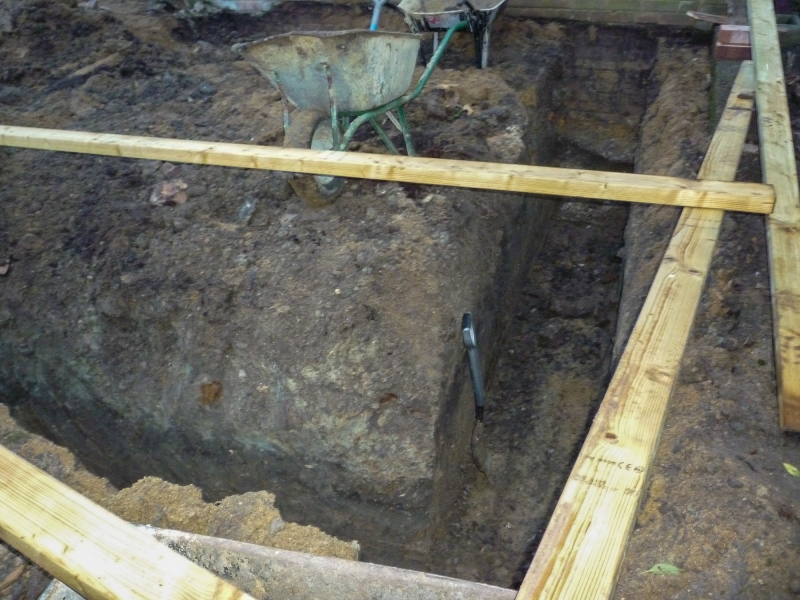 Day 3 - start - footings dug out - view 1