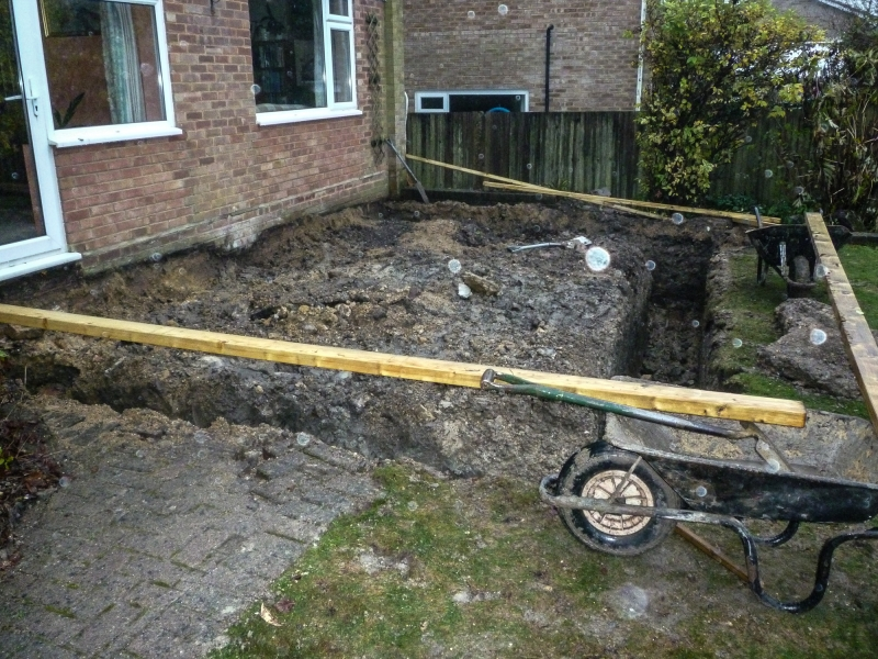 Day 3 - start - footings dug out - view 2