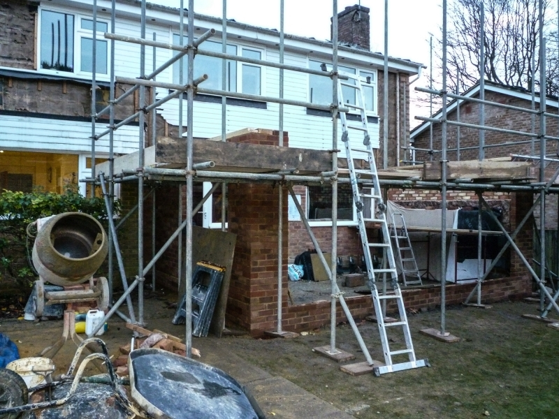 End of Week 3 Day 5 - 1 Scaffold erected