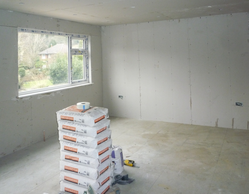 Week 12 Day 2 - top room waiting for plasterers