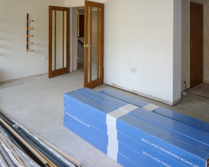 Week 17 Day 2 - upstairs flooring acclimatizing