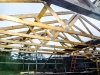 Start of Week 4 Day 3 - 2 - roof trusses in place
