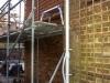 Week 9 Day 5 start - side of extension tiled
