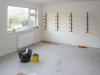 Week 16 Day 4 - studio with moulding rack already up