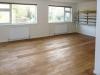 Week 18 Day 5 start - Studio floor with 1st oil coating
