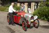 Baughan cyclecar outside museum 7